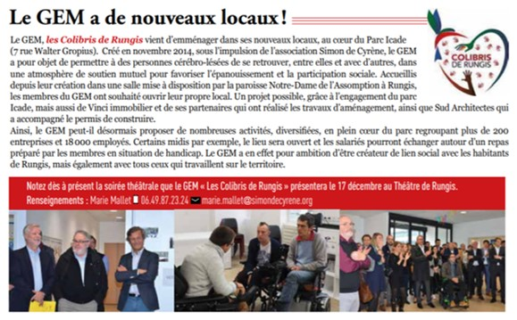 article journal de rungis nov 2019